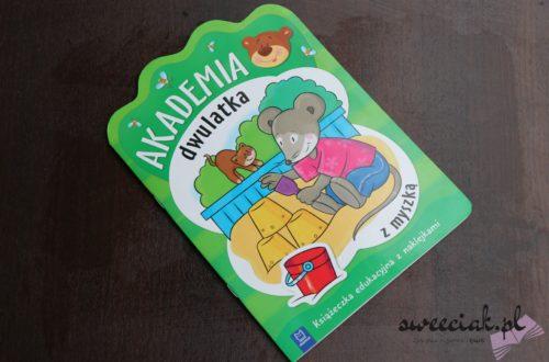 """""""Akademia dwulatka z myszką"""" - książeczka edukacyjna z naklejkami"""