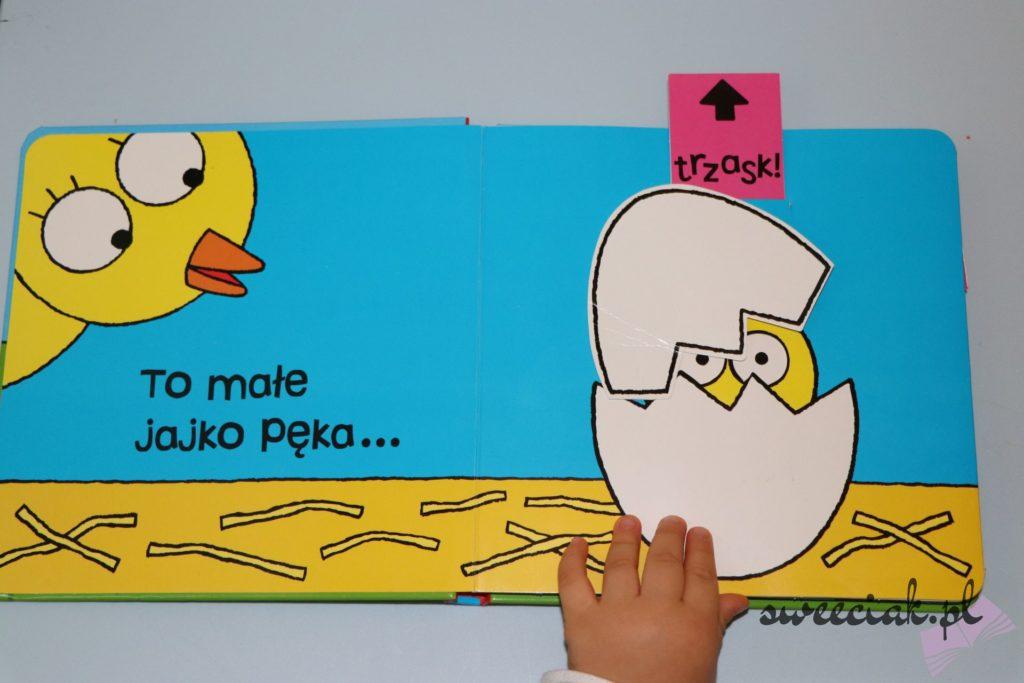 """Ojej! Mały kurczak - Seria """"Przesuń, baw się, pociągnij"""" - Jo Lodge"""