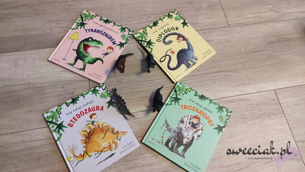 Książeczki o Ivarze i Krainie Dinozaurów - Lisa Bjardo, Emma Gothner