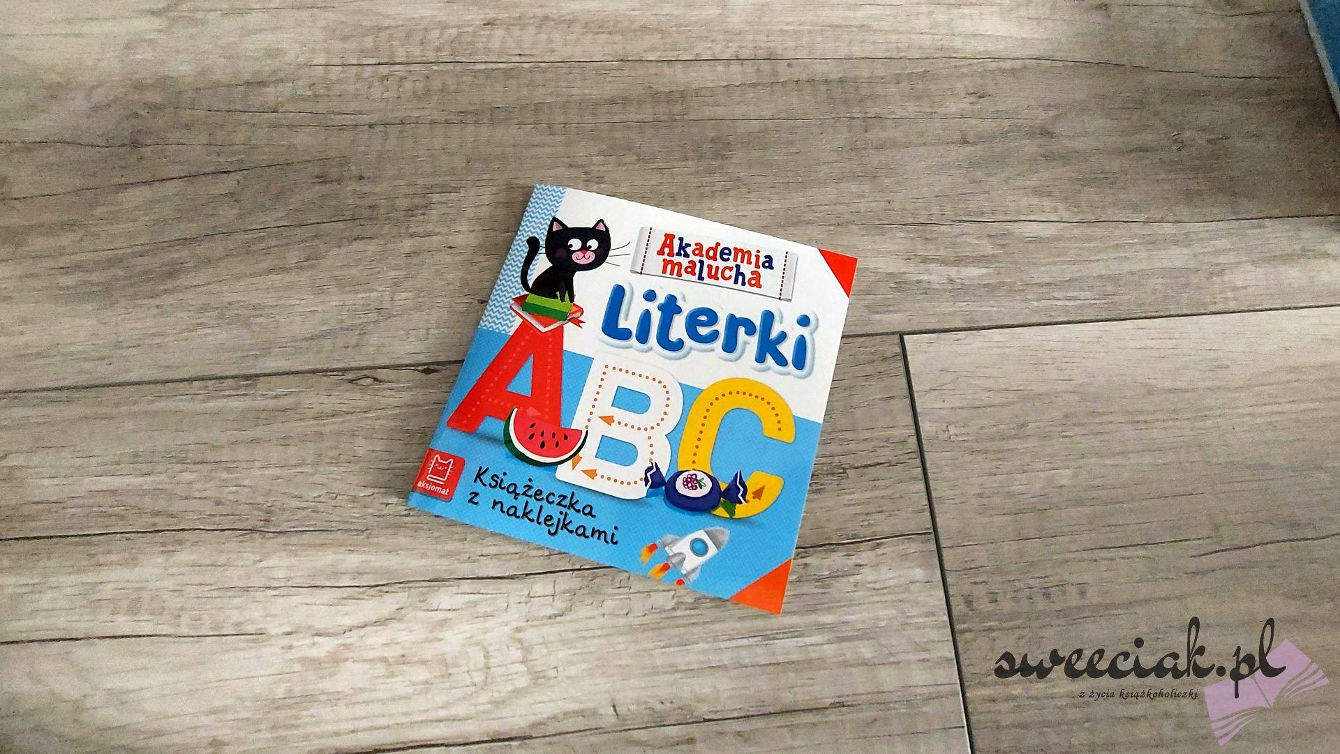 """""""Literki"""" - Książeczka z naklejkami i puzzle do pary"""